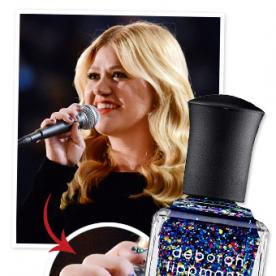 Kelly Clarkson's Custom Glitter Nail Polish From the Grammys Can Now Be Yours!