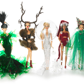 """Designer Stephen Jones Gives A Whole New Meaning To """"Holiday Barbie"""""""