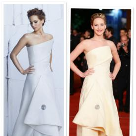 Surprise! From InStyle To the Red Carpet, Jennifer Lawrence Wore the Same Christian Dior Dress