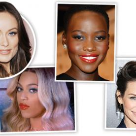 Talk About An '80s Upgrade! Beyoncé, Olivia Wilde, Lupita Nyong'O, and Evangeline Lily Give Blue Eye Shadow a Modern Take