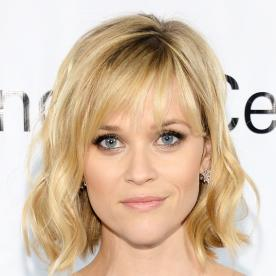 The best celebrity bangs instyle reese witherspoon wavy short hair with bangs urmus Image collections