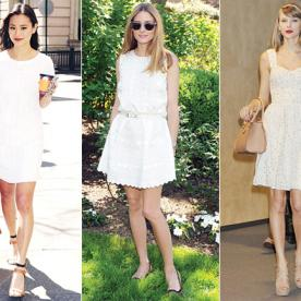 Move Over, LBD! Here's How 16 Stars Are Embracing the Little White Dress