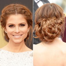 Best updo hairstyles for wedding prom instyle maria menounos updo pmusecretfo Images