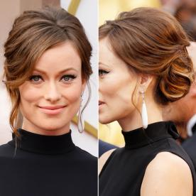 Best updo hairstyles for wedding prom instyle olivia wilde updo pmusecretfo Choice Image