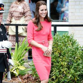What a Ladylike Look! Kate Middleton Steps Out in a Scarlet Frock