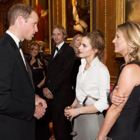Photo of the Day: Prince William Chats with Emma Watson and Kate Moss