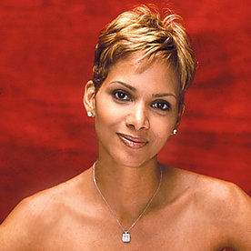 Halle Berry Short Hairstyles 57 halle berry curly short hairstyle 12 inches brown 100 human remy hair hand knotted lace Halle Berry Transformation Beauty