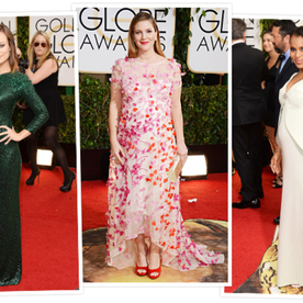 Three of Hollywood's Leading Ladies, Three Completely Different (and Fabulous) Baby Bump Styles