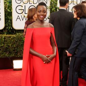 Why We Are Obsessed with Lupita Nyong'o's Bold Golden Globes Look