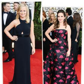 Everything You Need to Know About Hosts Tina Fey and Amy Poehler's Stunning 6 Golden Globes' Looks