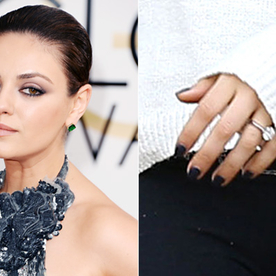 Big Photo For a Big Rock: Former That '70s Show Stars Mila Kunis and Ashton Kutcher Are Engaged!