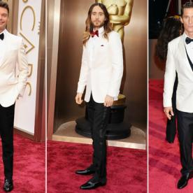 Men in White: The Bold New Trend On the Oscars Red Carpet