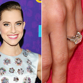 Big Photo For a Big Rock: Allison Williams Debuts Her Dazzling Engagement Ring