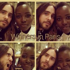 Photo of the Day: Lupita Nyong'o and Jared Leto Take the Oscars Selfie Trend to Paris