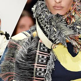 GIF Guide: Knot a Fringed Scarf, Inspired by the Celine Runway