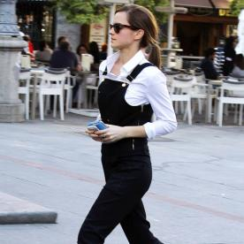 Emma Watson Kicks Her Street Style Up a Notch With Slip-On Sneaks