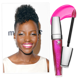 Yes You Can Wear Pastel Shadow With a Hot Pink Lip -- Lupita Nyong'O Shows Us How