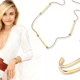 Get the Scoop on Cameron Diaz's Delicate (and Affordable!) Jewelry From Her InStyle May Cover