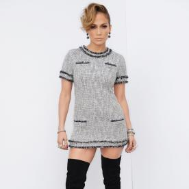 Jennifer Lopez Rocks Sky High Boots and Tweed on Last Night's American Idol