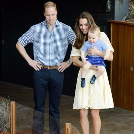 Prince George's Adorable Zoo Day! And See Kate Middleton Lovely in Lemon Eyelet