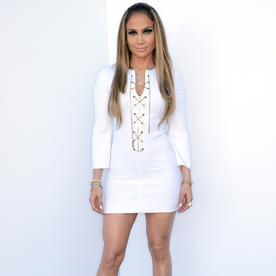 Jennifer Lopez Is Smokin' In a Chain Front Dress and 60's-Inspired Hair