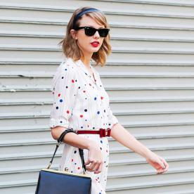 Found it! Taylor Swift's Perfectly Polished Shirtdress