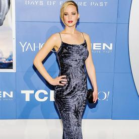 Jennifer Lawrence's Latest Red Carpet Look? A Slinky Velvet Dress and Slick Strands