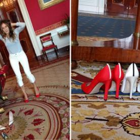 Sneaky! Sarah Jessica Parker Smuggles Patriotic Pumps Into the White House