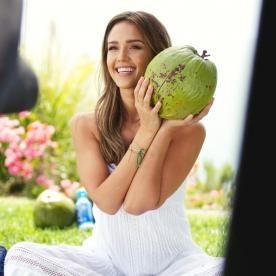 Exclusive Behind-the-Scenes Beauty Details from Jessica Alba's Zico Campaign