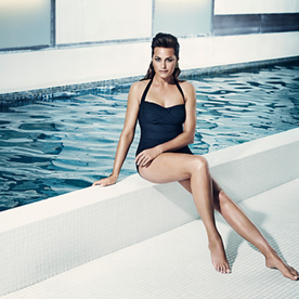 Yasmin Le Bon Looks Gorgeous While Modeling Swimsuits for Speedo, at Age 49