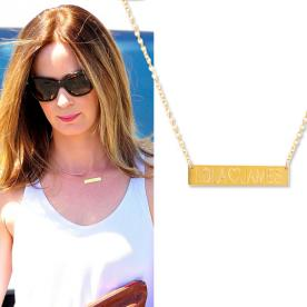Shop Emily Blunt's Darling Nameplate Necklace