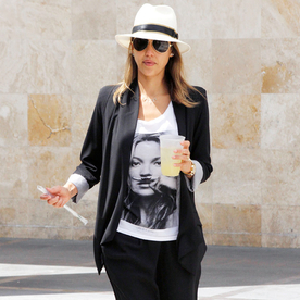 We're Starry-Eyed For Jessica Alba's Stylish Kate Moss Tee
