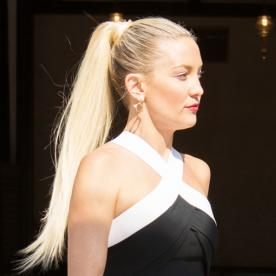 How to Get a Sleek, High Ponytail Like Kate Hudson