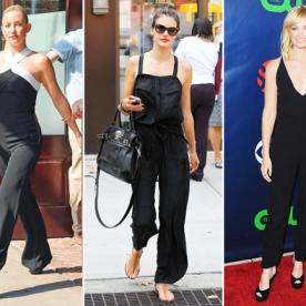 Trend to Wear Now: These Celebrities Are Loving Black Jumpsuits