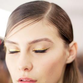 Gild Your Cat Eye with Gold for a Colorblock Look