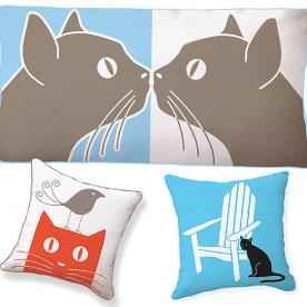 What's Right Meow: Style Your Space with These Kitty-Motif Pillows