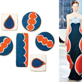 Bake Up This Sharp-Dressed Dessert: Op-Art Cookies Inspired by Delpozo's Fashions