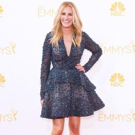 InStyle September Cover Girl Julia Roberts Dazzles at the Emmys in a Bejeweled Minidress
