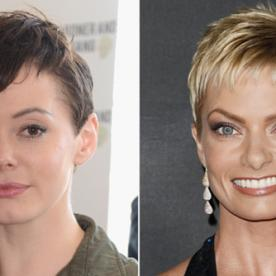 Rose McGowan and Jamie Pressly Jump On the Pixie Trend!