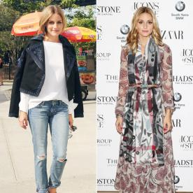 Olivia Palermo Hits the Streets in Two Pairs of Shoes from Her Aquazzura Collaboration