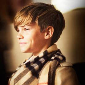 12-Year-Old Romeo Beckham Fronts Burberry's New Festive Campaign