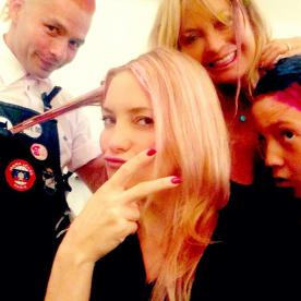Kate Hudson and Goldie Hawn Debut Pink Hair for Breast Cancer Awareness