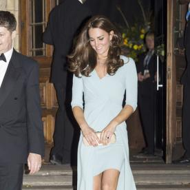Kate Middleton Steps Out in a Gorgeous Ice Blue Gown