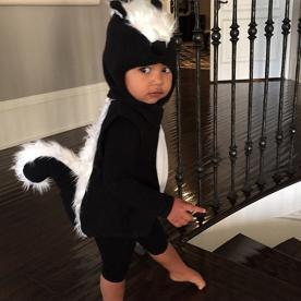 North West Wins Halloween as a Cute Baby Skunk
