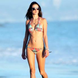 Alessandra Ambrosio Hits the Beach in One of Her Own Bikini Designs