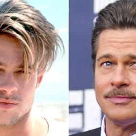 Brad Pitt Turns 51! See His Life in Hair