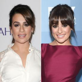 It's Back to Bangs for Lea Michele!