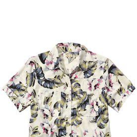 Tropical+Cropped+Shirt