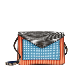 Metropoli+Printed+Textured-Leather+Shoulder+Bag