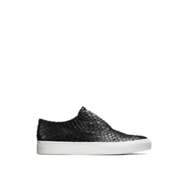 Nelson+python-embossed+leather+sneakers